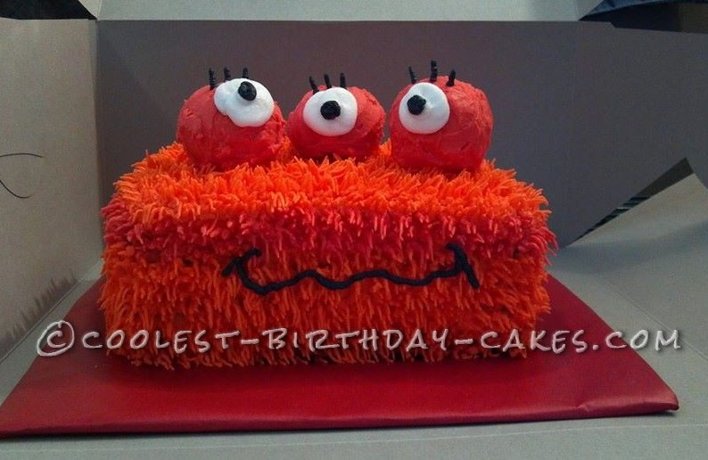 Three-Eyed Fuzzy Monster Cake