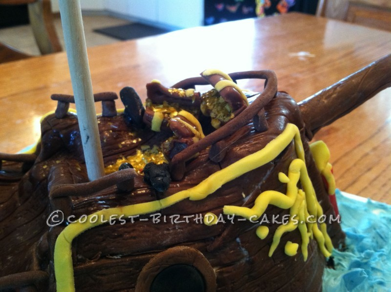 Coolest Pirate Ship Cake