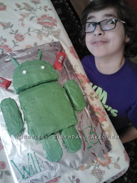Coolest  Android Robot Cake