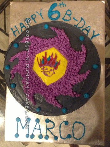Coolest Beyblade Birthday Cake