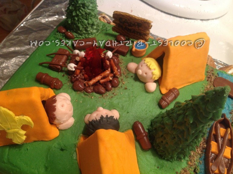 Cool Boy Scout Camping Cake