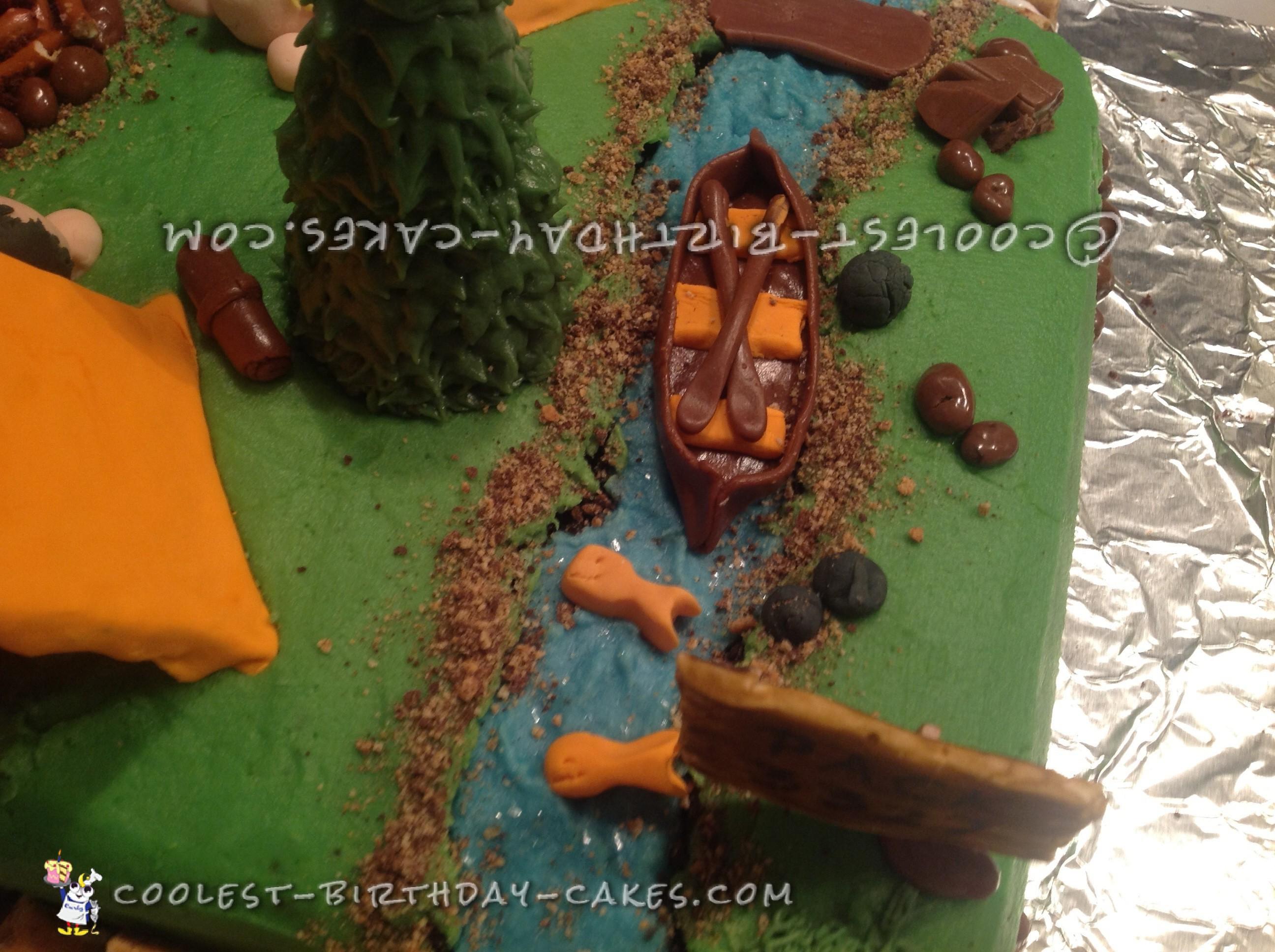Cool Boy Scout Camping Cake