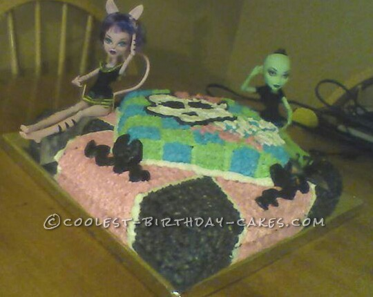 Homemade Buttercream Monster High Cake