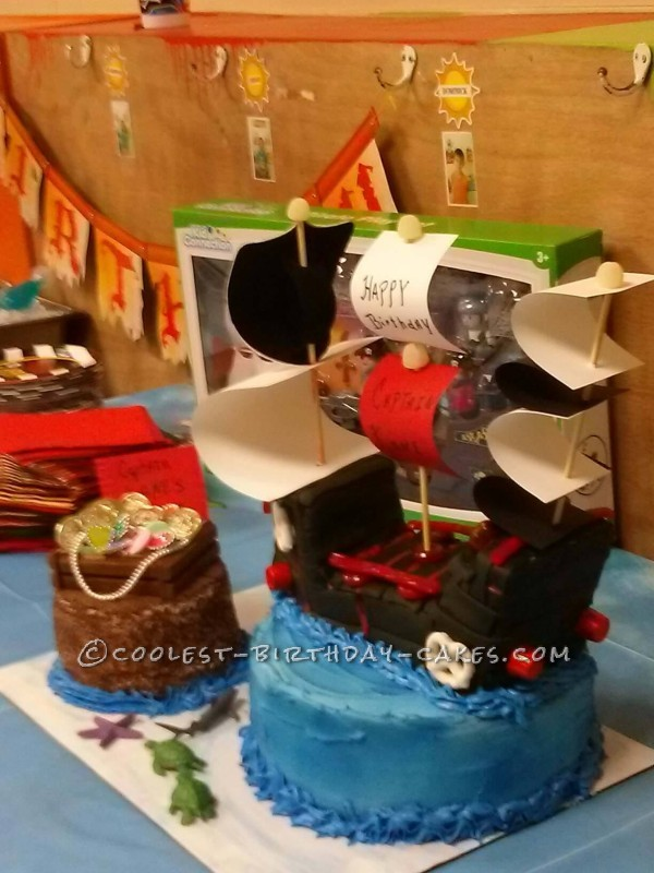 Coolest Captian Kane's Pirate Birthday Cake