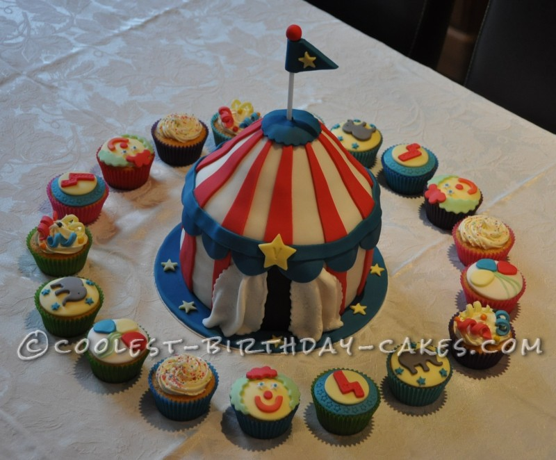 Circus Tent Party Cake
