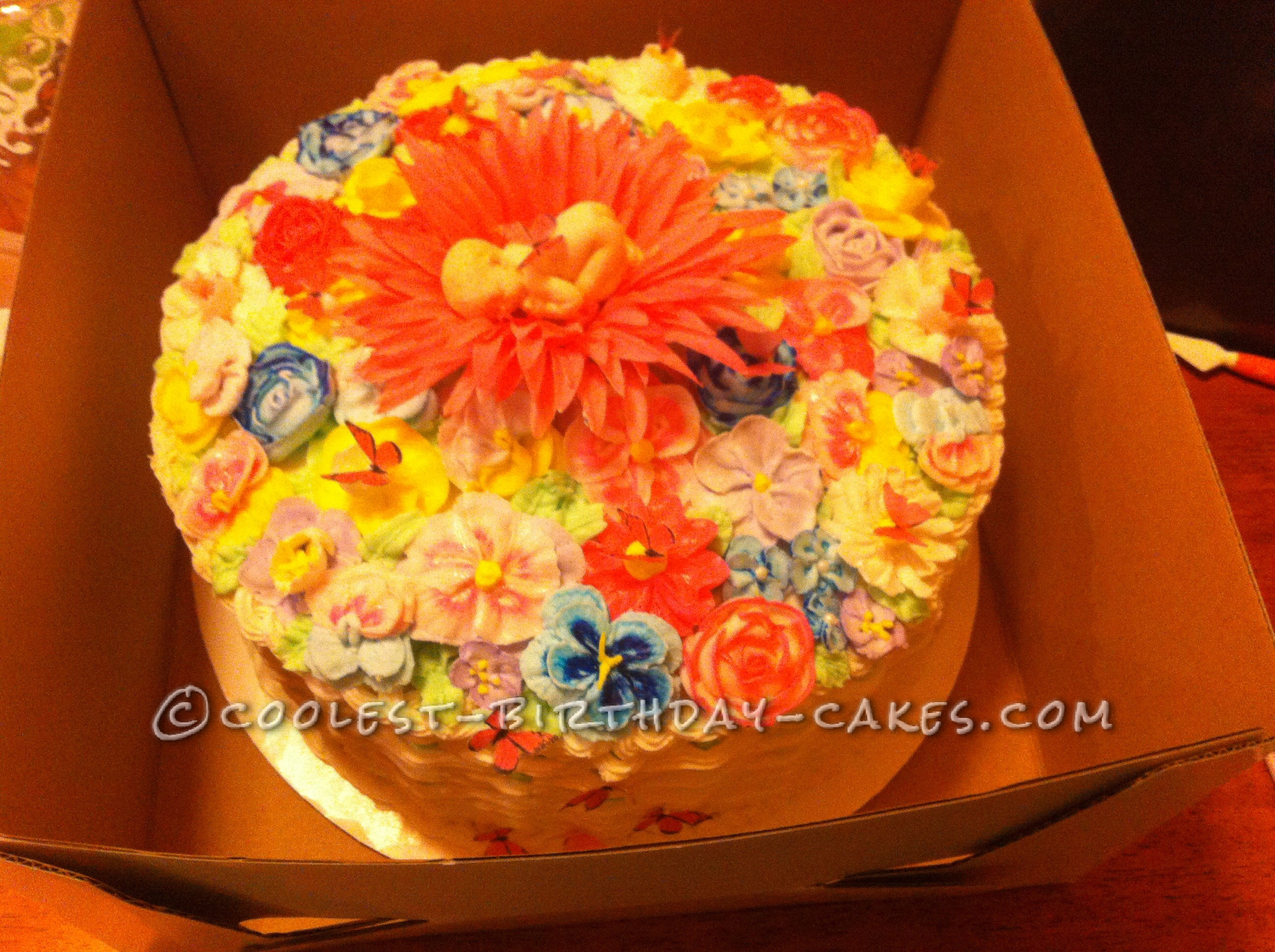 Coolest Butterfly Baby Shower Basket Weave Cake