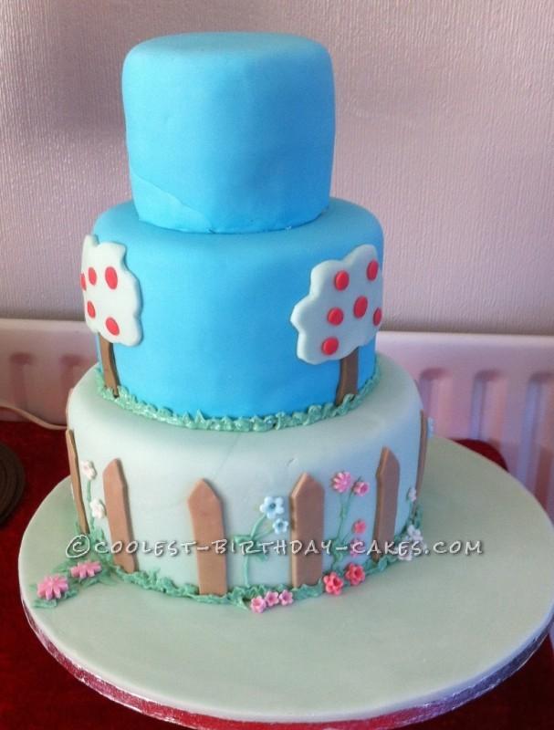 Cool Homemade 3 Tier Farm Scene Birthday Cake