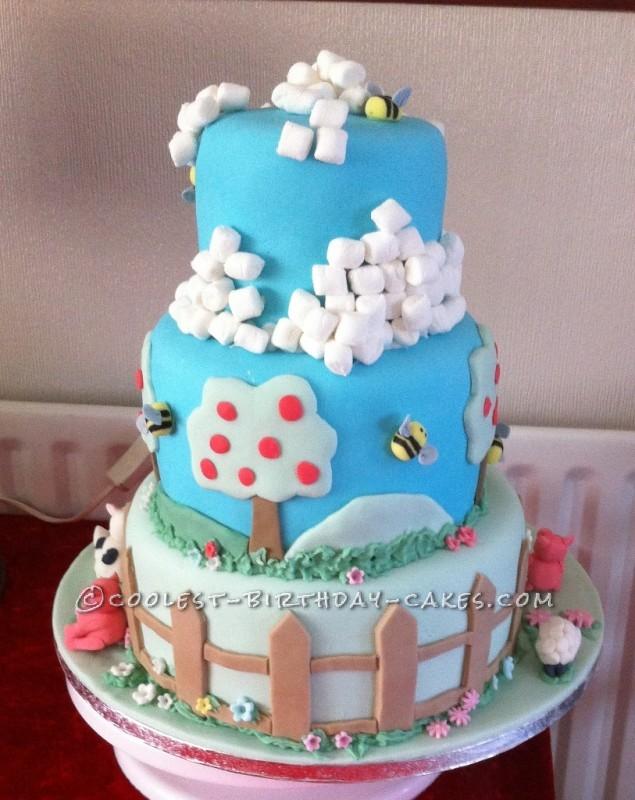 Coolest Farm Scene Birthday Cake