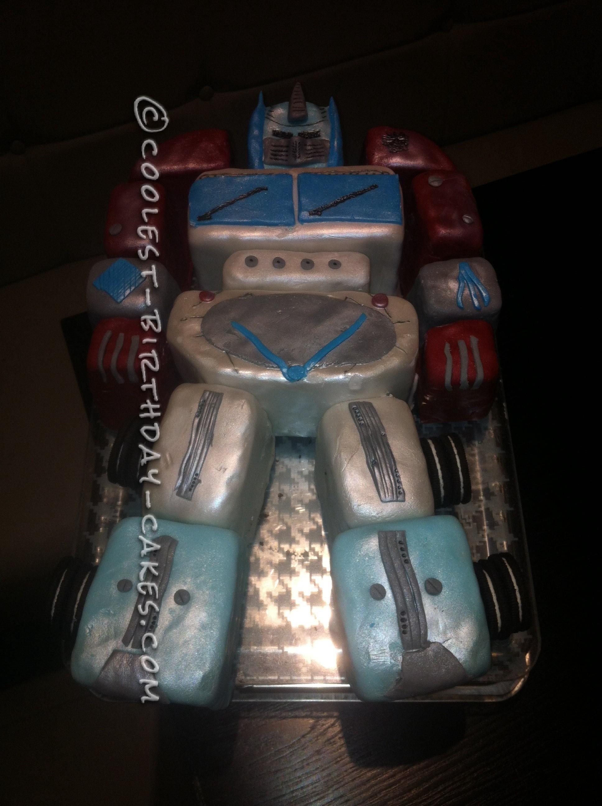Coolest Optimus Prime Cake