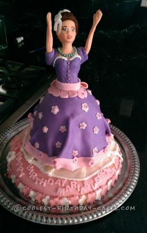 Dancing Princess Barbie Doll Cake