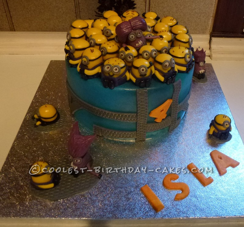 Groovy Coolest Despicable Me 2 Birthday Cake Funny Birthday Cards Online Elaedamsfinfo