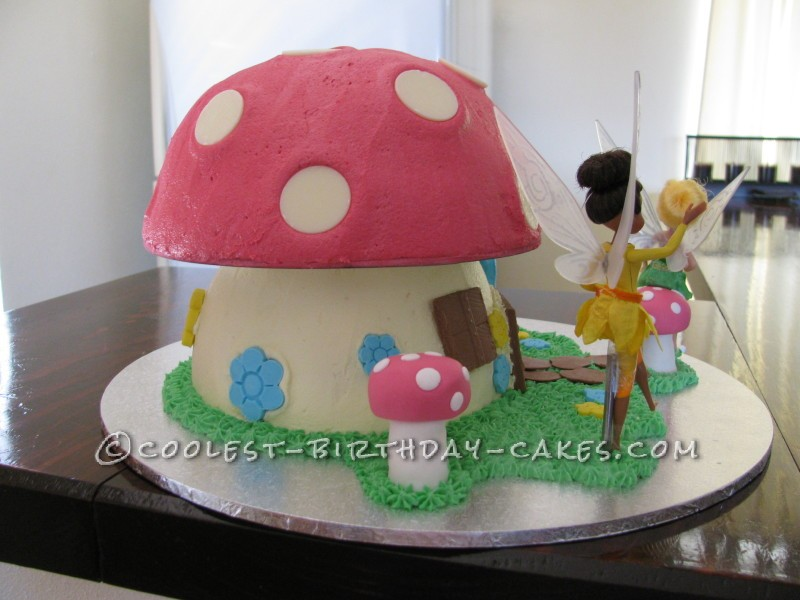 Coolest Fairy Toadstool House Cake