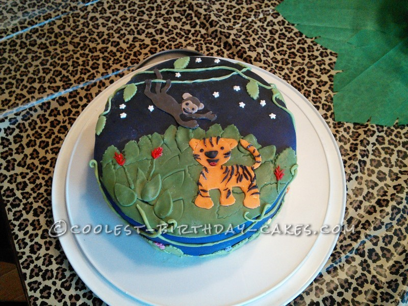 Coolest Fun Jungle Party Birthday Cake