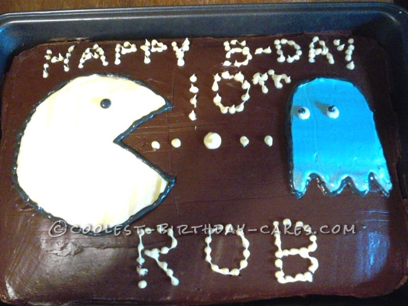 Coolest Pacman Birthday Cake for a Boy