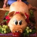 Coolest Piggy Luau Birthday Cake