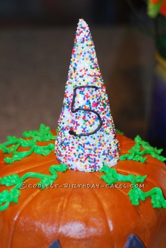 Coolest Pinata Pumpkin Birthday Cake