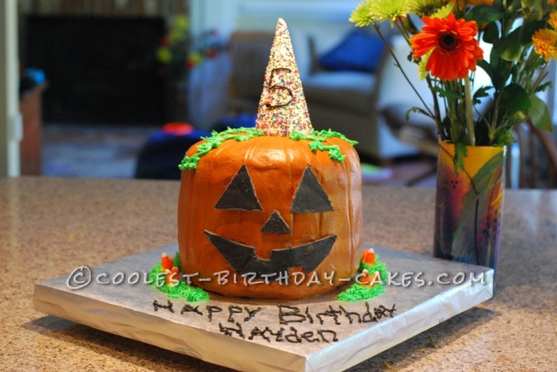 Coolest Pinata Pumpkin Birthday Cake