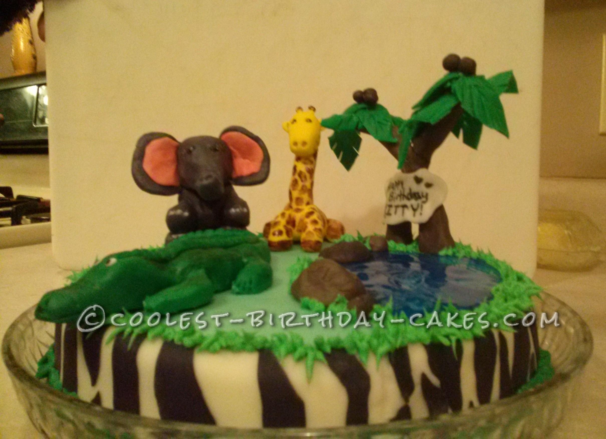Awe Inspiring Cool Homemade Safari Birthday Cake Funny Birthday Cards Online Alyptdamsfinfo