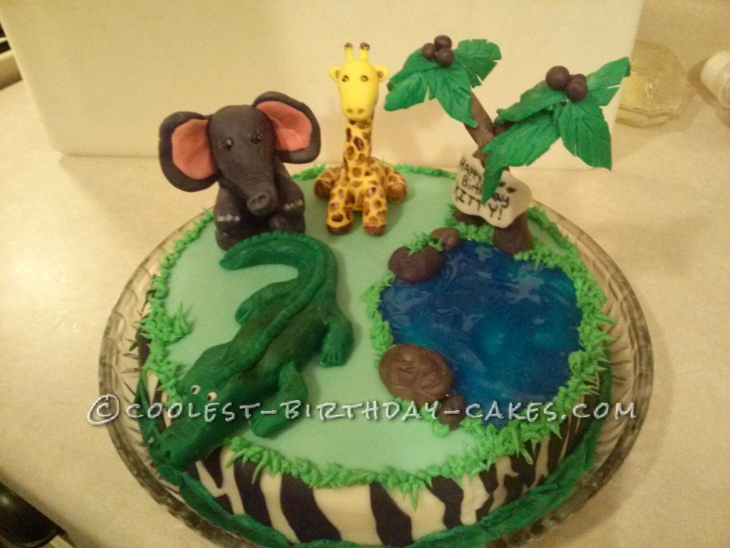 Coolest Safari Birthday Cake