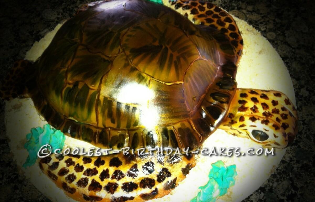Coolest Sea Lovers Sea Turtle Cake