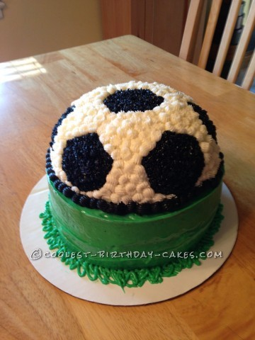 Coolest Homemade Soccer Ball Cake