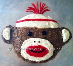 Coolest Sock Monkey Cake