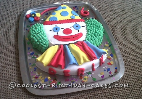 Coolest Homemade Clown Cake