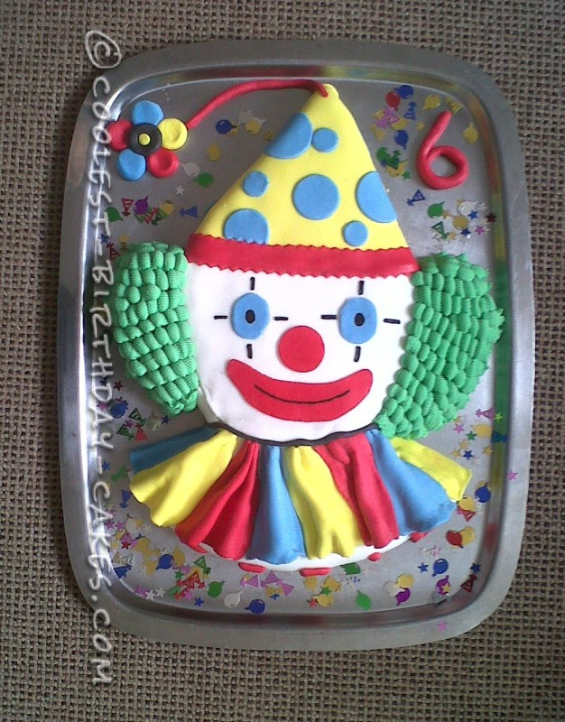 Coolest Homemade Clown Cake