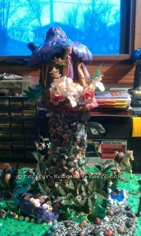 Coolest Tower from the Disney Movie Tangled Cake