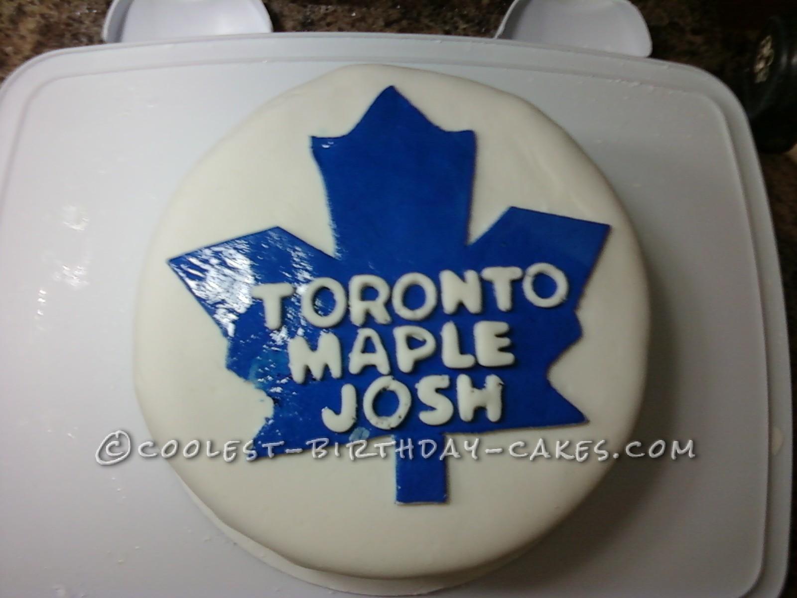 Coolest Toronto Maple Leafs Fan Cake