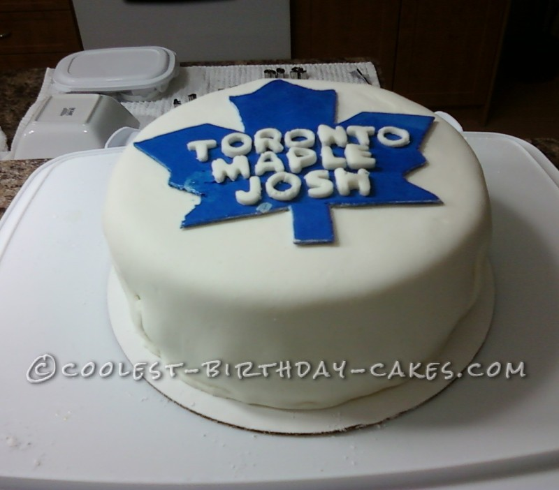 Coolest Toronto Maple Leafs Fan Cake