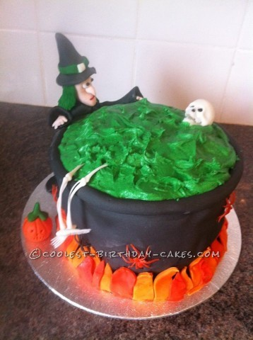 Homemade Witches Cauldron Cake