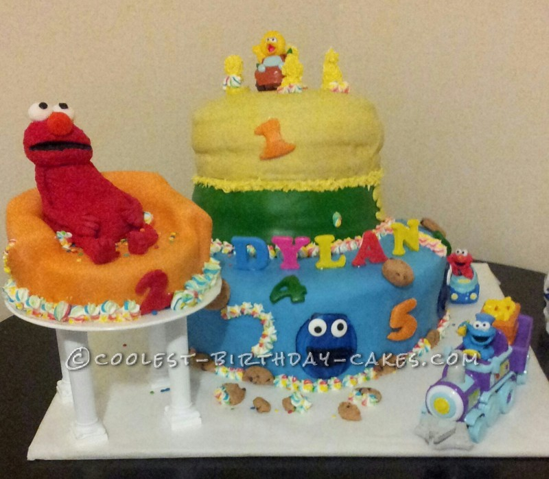 Awesome 330 Coolest Homemade Sesame Street Birthday Cakes Funny Birthday Cards Online Sheoxdamsfinfo