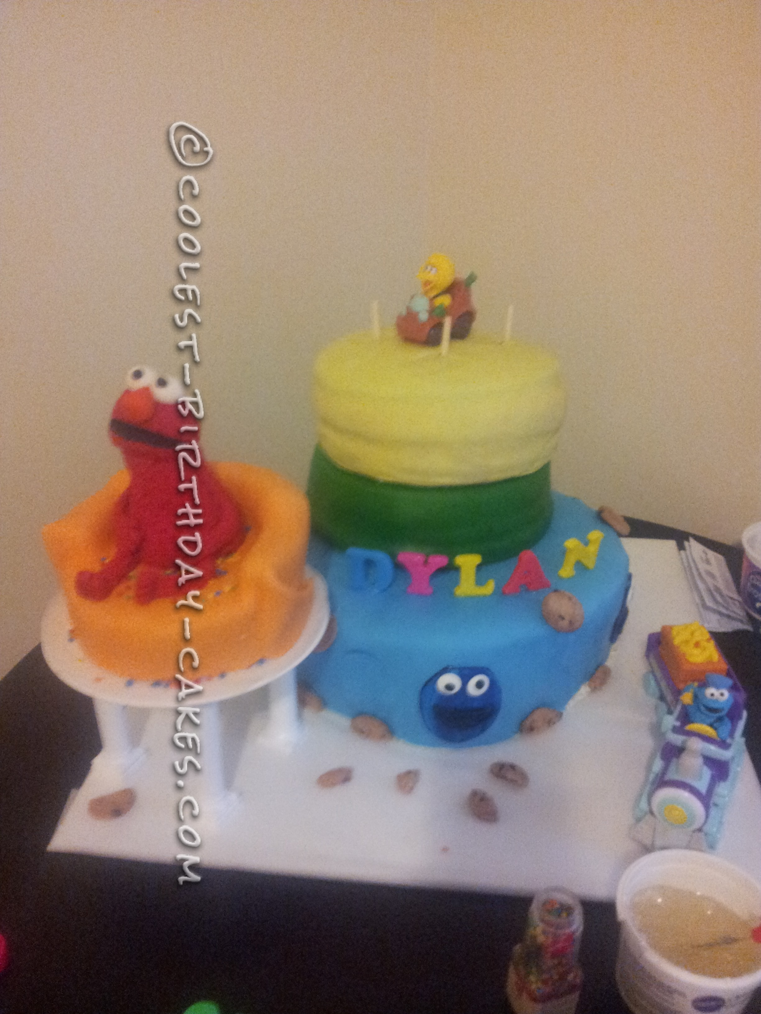 Sensational Awesome Sesame Street Birthday Cake For A 2 Year Old Boy Funny Birthday Cards Online Hendilapandamsfinfo
