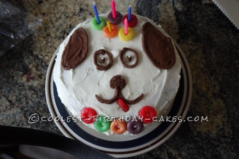 Cute and Easy Dog Face Cake