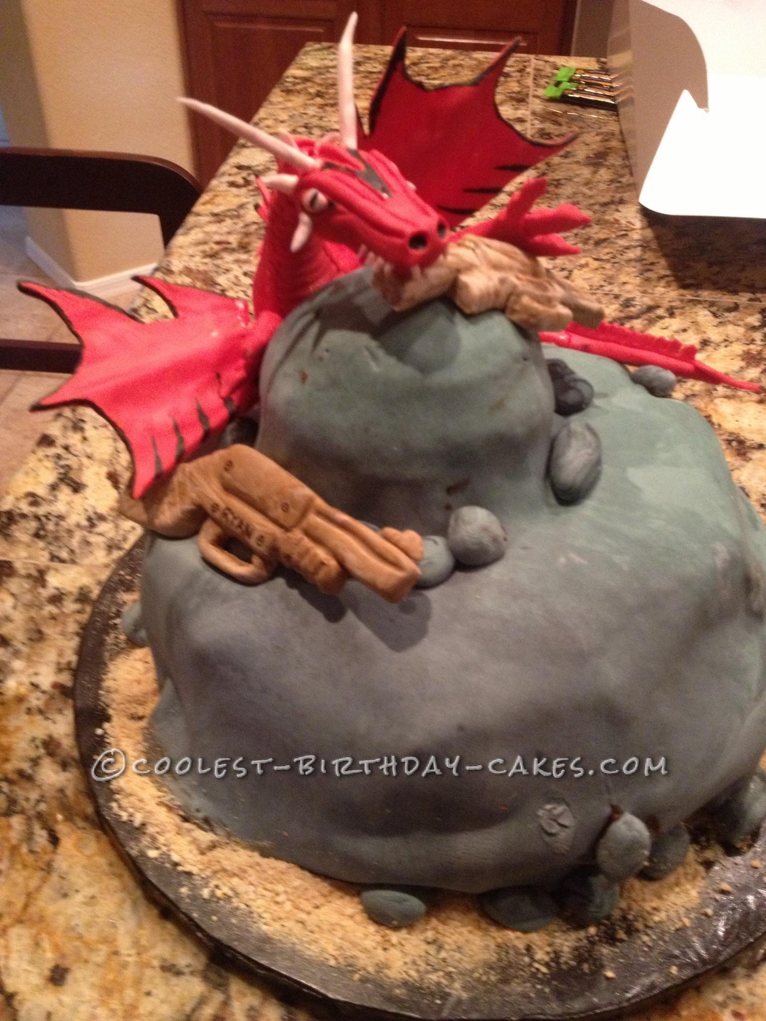 Coolest Dragon Slayer Birthday Cake
