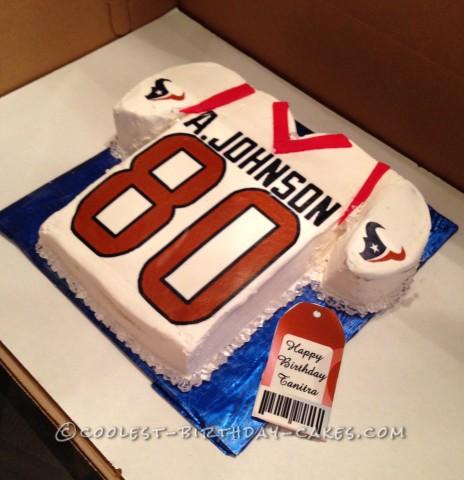 Coolest Homemade A Johnson Jersey Cake