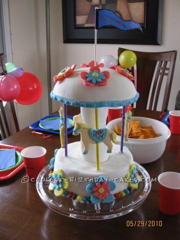 Coolest Carousel Cake