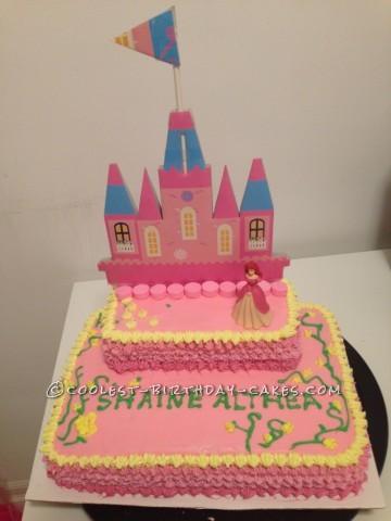 Homemade Princess Castle Cake