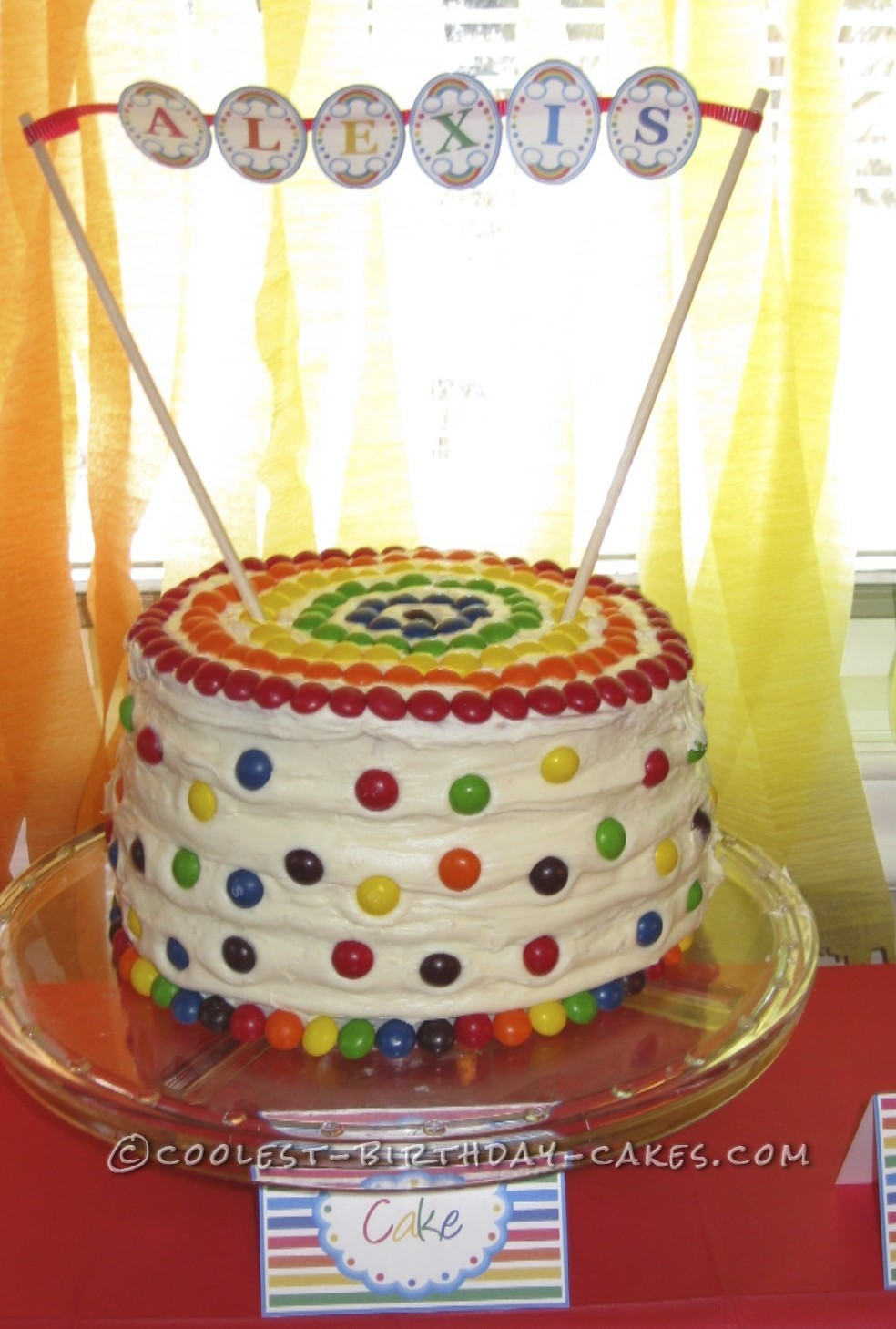 Coolest Rainbow Birthday Cake