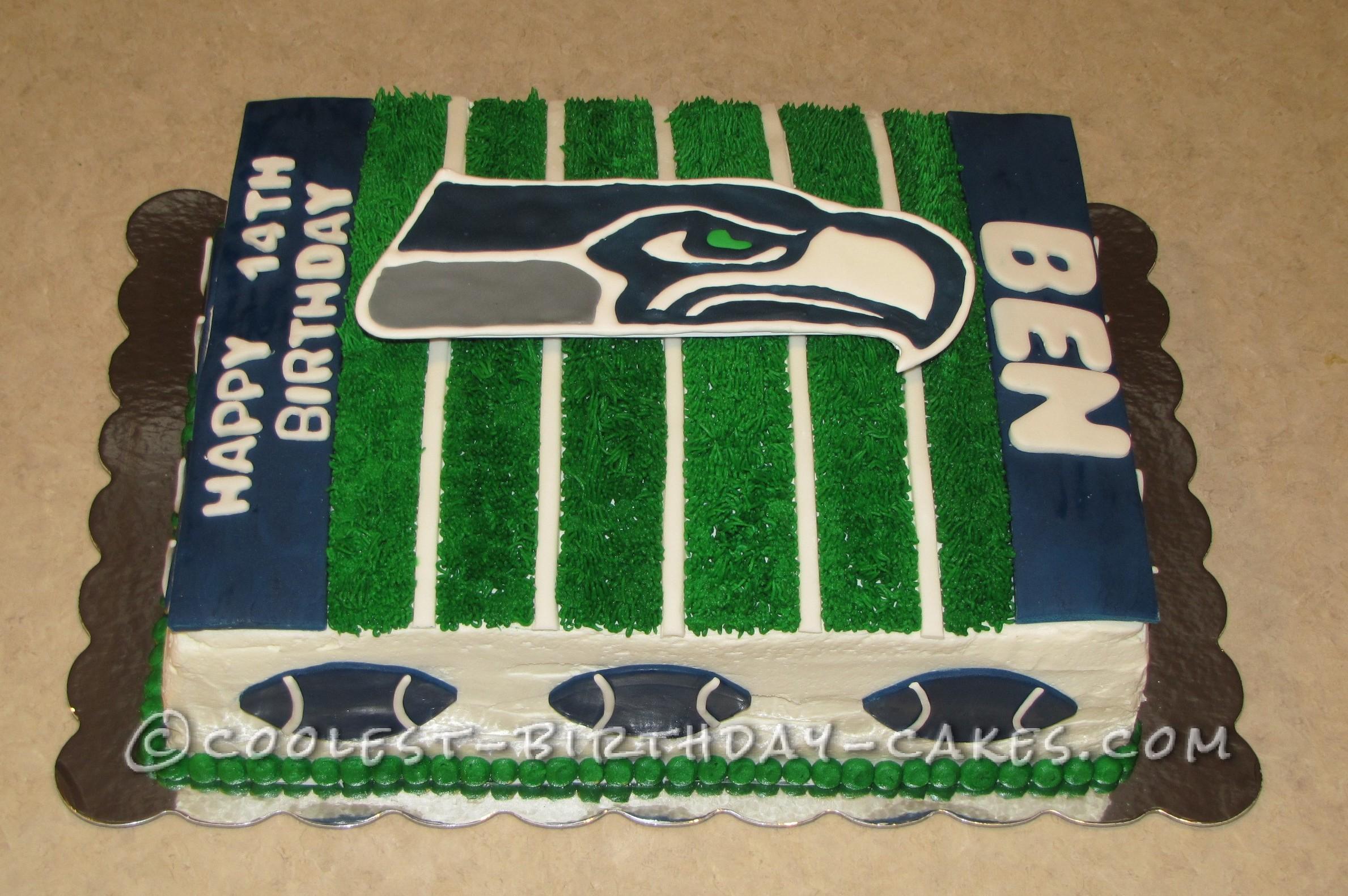 Coolest Seahawk Football Cake
