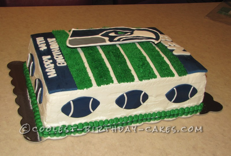 Coolest Seahawk Football Cake