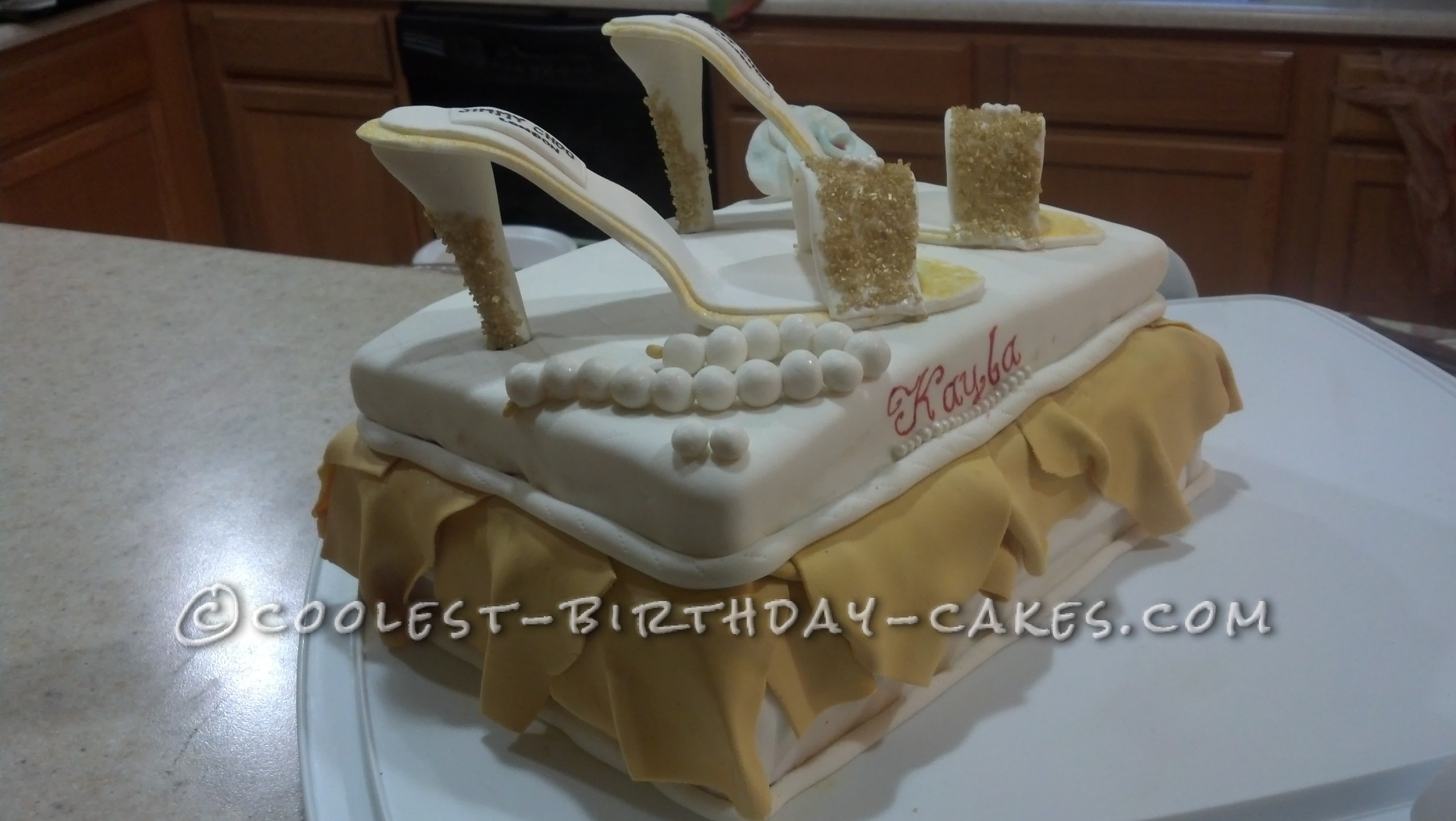 Coolest Homemade Shoes Birthday Cake