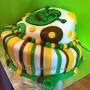 Topsy Turvey Shrek cake