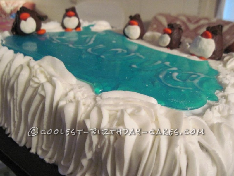 Awesome Skating Penguin Cake