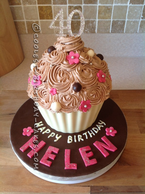Coolest 40th Birthday Giant Cupcake