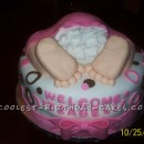 Awsome Baby Rump Cake for a Baby Shower