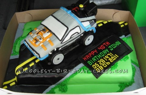 Back to the Future with the Coolest Delorean Cake