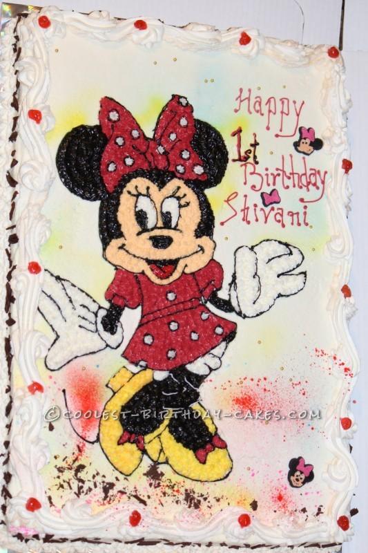 Homemade Minnie Mouse Sheet Cake Coolest Homemade Minni...