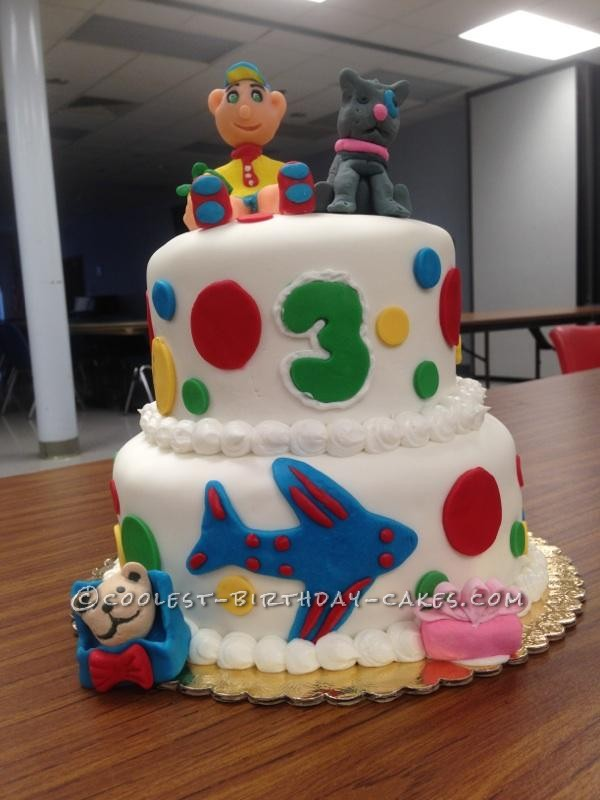 Superb Coolest Homemade Caillou Cakes Funny Birthday Cards Online Alyptdamsfinfo